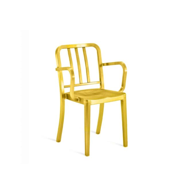 Aluminum-Chair-with-anti-bacterial-treatment-gha-15-micron-gold